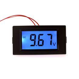 Wholesale Lcd Dc Voltmeter Panel - Wholesale-Car motorcycle voltmeter dc 7.5-19.99V volt voltage panel meter car monitor with digital lcd display blue backlight