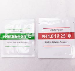 Wholesale Measuring Ph - Wholesale-2 bags PH Buffer Powder for PH Test Meter Measure Calibration Solution 1pcs 4.01 and 1pcs 6.86 Calibration Point