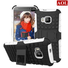 Wholesale Shock Proof Pc Case - Stock Stand Case Impact Rugged Heavy Duty TPU+PC Hybrid Shock Proof Cover Case for HTC One M10 M9 M9+ M8 E9+ X9 A9