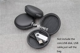 Wholesale Candy Earphone Earbud Headphone - epacket FREE SHIPPING USA UK Earphone Storage Carrying Bag Retail Package Headphone Earbud Case Cover For USB Cable Key Coin Mini Zipper HOT