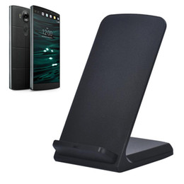 Wholesale Wireless G3 - Wholesale-Top Quality 3-Coils Qi Wireless Charger Stand Dock For LG V10 G4 G3 For Nexus 4 5 7 Quick-acting Charging Pad + USB Cable JA13
