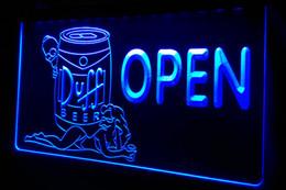 Wholesale Girl Bar Neon Light Sign - LS449-b Duff Beer OPEN Bar Girl Neon Light Sign