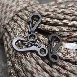Wholesale Mini Keychain Ring - 20 Pcs SF Classic Mini Keychain Spring Clasps Carabiners For Key Ring Camping Bottle Hooks Paracord Rope Flash Light EDC Gears