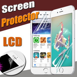 Wholesale Huawei S7 Screen - Transparent Clear Front LCD Screen Protector Guard Film With Cloth For iPhone X 8 7 Plus Samsung S7 edge Note 5 Huawei P10 Xiaomi 6 LG G6