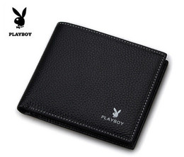 Wholesale Wholesale Acrylic Business Card Holders - wallets Leather wallet Men's Wallet Playboy short paragraph business wallet PU wallet leather wallet Money Purse hight quality