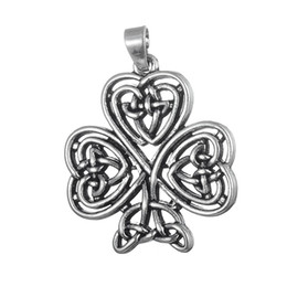 Wholesale Celtic Knot Pendant Wholesale - Antique Silver Plated celtic knot Four Heart Keychain Charm Women Handbag Pendant Keyring Love Key Holder Bag Accessory Lovers Gift 5pcs lot
