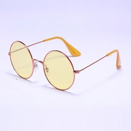 Wholesale Rounded Glasses - Newest Designer Sunglasses 3592 Round bright-eyed Summer sun glasses Women men glasses 55mm metal Glass with case