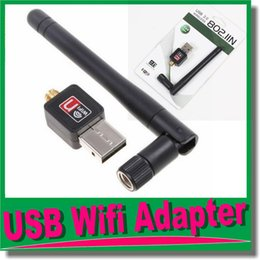 Wholesale Antenna Software - 150Mbps USB WiFi Adapter Antenna Wlan Card For Desktop Wireless Network Adapters LAN Network Card 2db Antenna Computer Software Drive OM-CH9