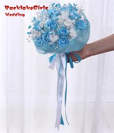 Wholesale Wedding Bouquet Bling - wholesale Maphia Wedding Bouquet 2017 Flowers Red Artificial Rose Luxury Diamond Crystal Bling Brides Ramo De Novia Bridal Bouquets