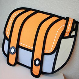 Wholesale Bags Style 2d - Hot sales 2017 New Fashion woman bags 2d cartoon bag messenger Shoulder Crossbody bag Bolsa Feminina Bolsosde Ombro high quality 3d Handbag