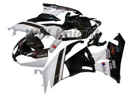 Wholesale Zx6r Frame - Motorcycle Frame Injection Mold Complete Body Fairing Kit for ZX-6R 2009 2010 2011 2012 ZX6R 09-12 Injection Mold Fairing Kit Black White