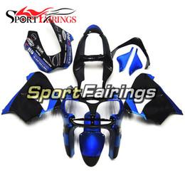 Wholesale Blue Zx9r - Fairings For Kawasaki ZX-9R ZX9R Year 00 01 2000 2001 Blue Black Plastics ABS Motorcycle Fairing Kit Carene Motorbike Body Frames