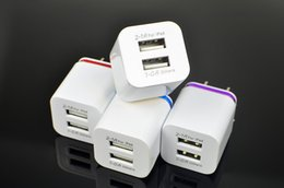 Wholesale New Arrivals Android Phones - New Arrival USB Chargers Metal Dual l 5V 2.1A Wall Chargers Double USB for iPad Samsung Android Phone US EU Plug