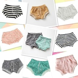 Wholesale Candy Striped Pants - 9styles 2016 girl boy sweet shorts INS hot KIDS striped print solid color short pants Baby spring summer candy color shorts