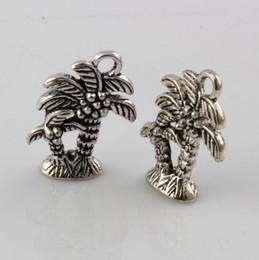 Wholesale Diy Coconut Tree - Hot ! 350pcs Ancient Silver Zinc Alloy Coconut Tree Charm Pendant DIY Jewelry 14X18MM