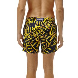 Wholesale Satin Drawstring Large - Men's beach shorts personality printing 2018 summer thin section breathable comfort casual men's Spandex shorts large size