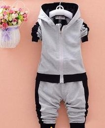 Wholesale Hooded Tracksuit Boys - boy sports suit baby boys clothing sets children autumn winter wear cotton casual tracksuits kids clothes sports suit hot