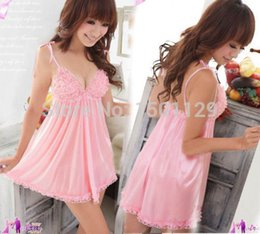 Wholesale Sexy Nightwear Wholesale - Wholesale-Sexy Lace Women Lingerie Nightwear Dress Underwear Babydoll G-String Sleepwear