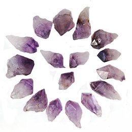 Wholesale Crystal Cross For Jewelry Making - 1 2 Lb, 10-18 Pcs Medium Amethyst Point for Jewelry Making & Wire Wrapping