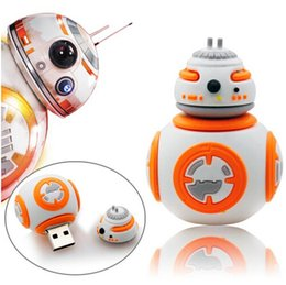 Wholesale Cheap Design Bags - Star Wars BB-8 High Quality 3D Design USB Flash Drives 2016 Best Selling Bulk Cheap Cartoon PenDrives 8GB 4GB 16GB With Opp Bag