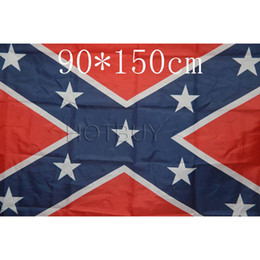 Canada Drapeau de la guerre civile rebelle confédérée Drapeau confédéré Drapeaux de la bataille confédérée Deux côtés du drapeau imprimé Drapeaux nationaux en polyester 90x150cm # 4142 Offre