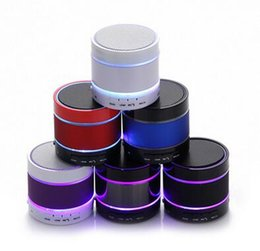 Wholesale Mini Led Lights Rings - S09 Mini portable wireless bluetooth speaker speakers Hi Fi music player with 3 LED light ring for smart phone computer