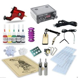 Wholesale tattoo equipment complete kit - Good Quality Best Price Free Shipping USA Complete Tattoo Kit Set 1 Machine Equipment Power Supply 5 Color Inks TK5-1119