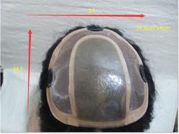 Perruques personnalisés en Ligne-8 A Full Lace Wigs Pu Coiffure Maïs Couleur Noir 14,5 cm * 14 cm Peut Concevoir Personnalisé Bonne Qualité PU Pièce de Cheveux Perruque Full Lace Perruques de Cheveux Humains