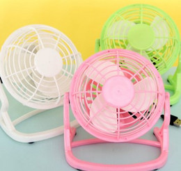 Wholesale Mute Portable - New desktop mini fan cartoon cute mute students small fan small fan portable line USB cooling fan