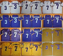 Wholesale Ivory Tiger - Football LSU Tigers College Jerseys 3 Odell Beckham Jr. Leonard Fournette 7 LE.FOURNETTE 7 Patrick Peterson 7 Tryann Mathieu Purple Yellow