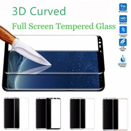 Wholesale Colorful Screen Protector 3d - For iPhone 7 Plus 3D Curved Colorful Full Cover Tempered Glass Screen Protector For Samsung Galaxy S8 Plus S7 Edge Protective film