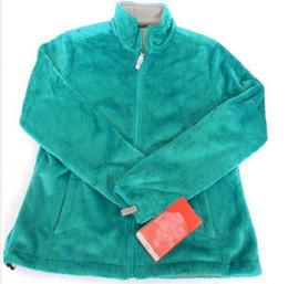 Wholesale Kids Green Down Coat Jacket - 2017 New Winter Womens Fleece Osito Jackets Fashion Soft Fleece Warm Slim Coats Outdoor Ladies Brand Mens Kids bomber Jacket Women Down Coat