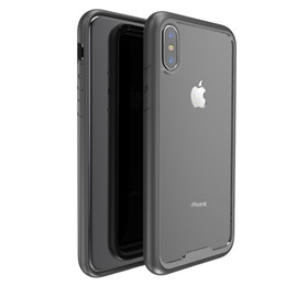 Wholesale Bumper Shipping - Hybrid Transparent Acrylic Hard Back Colorful Bumper Phone case For iphone X 6 6 plus 7 7 plus Drop Shipping