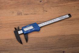 Wholesale Measuring Inch - 150mm Digital Caliper Vernier 6 Inch Carbon Fiber Composites Electronic Calipers Micrometer Gauge Meter Widescreen Measuring Tools