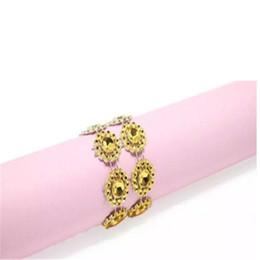 Fontes do hotel de cristal diamante guardanapo anel guardanapo de girassol fivelas de casamento suprimentos de mesa elegante restaurante decoração a860-a867 de