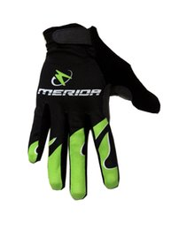 Wholesale Winter Cycling Gloves - WINTER FLEECE 2015 MERIDA Pro Team 2 COLORS Cycling FULL-finger Gloves Cycling Bike Gel Gloves Bicycle Glove Accessories Size M-XL