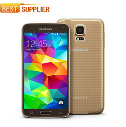 Wholesale Android S5 - Free DHL Hot Sale Smartphone Original Unlocked Samsung Galaxy S5 i9600 Quad-core 3G&4G 16MP Camera GPS WIFI CellPhone