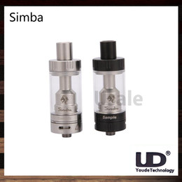 Wholesale Wholesale Cotton Filling - UD Youde Simba RTA Tank 4.5ml Innovation Ceramic Tank Without Cotton Simba Atomizer Top Filling Juice Flow Control 100% Original