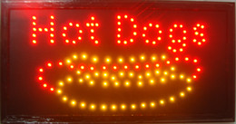 Wholesale Neon Light Open Sign - direct selling custom graphics 10X19 inch indoor Ultra Bright Led hot dog open store Neon lighted Sign