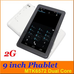 Wholesale China Cheap Android Phone - Cheap B900 9 inch 2G GSM Quad Band Phablet MTK6572 Dual Core Phone Tablet PC Android 4.4 512MB 4GB Dual Camera with flashlight BT DHL 10pcs