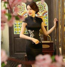 Wholesale Sexy Qipao Red - sexy bud silk qipao fashion hand 2016 the new