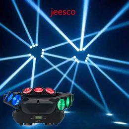 Luce di movimento del ragno online-Vendita calda LED Moving Spider Raggio di luce Full Color Infinite Spider 9pcs 12w RGBW 4in1