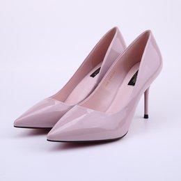 Wholesale Stiletto Heels Wholesale - Women Shoes Black Patent PU Leather Dress Pumps High Heels Pointed Toe Stiletto Dress Shoes Woman Fashion Quality Shoes Wholesale
