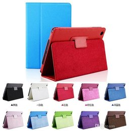 Wholesale Mobile Phone Cases Wholesale China - For Apple iPad 2 3 4 Air Air 2 Mini 1 2 3 Flip Litchi Grain PU Leather Stand Mobile Phone Cover Case