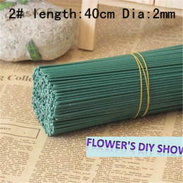 Wholesale Floral Stems - 50pcs or 100pcs lot 2# 3# iron wire for flowers stems nylon flower wire diy accessories floral wire for flowers