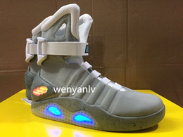 Wholesale Light Up Bowls - New Air Mag Men Limited Edition Back To The Future High Top Sneakers Mags Ankle Boots With LED Lights Outdoor Shoes without Box