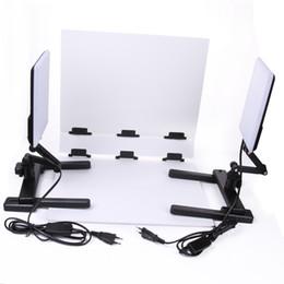 Wholesale Tripod Table Light - 2PCS CN-T96 LED Light Lamp Tripod Foldable Photo Shooting Table Background Kit