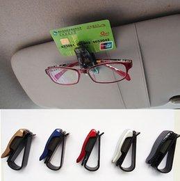 Wholesale Sun Visor Eyeglass Holder - Hot Sale auto fastener clip Auto Accessories ABS Car Vehicle Sun Visor Sunglasses Eyeglasses Glasses Ticket Holder Clip