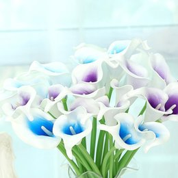 Wholesale mini calla lilies - Calla Lily Artificial Flowers Simulation Crafts Fake Flower For Wedding Party Decorations Many Colors Mini Style Real Touch 1 2br B RZ