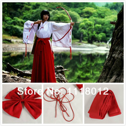 Wholesale Inuyasha Cosplay Costumes - Wholesale-Manga Anime Inuyasha psychic Kikyou Cosplay Clothes Cos Costumes Long Halloween Party Clothes